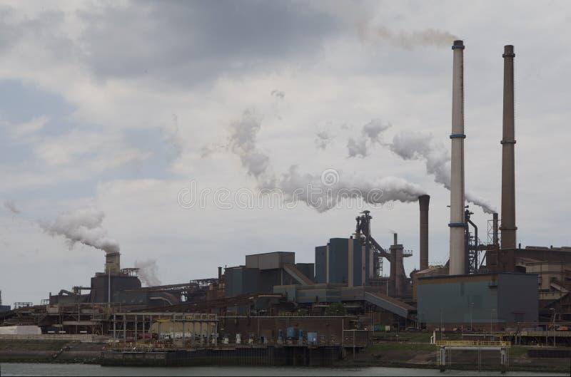 Hoogovens Steel Factory Stock Photo