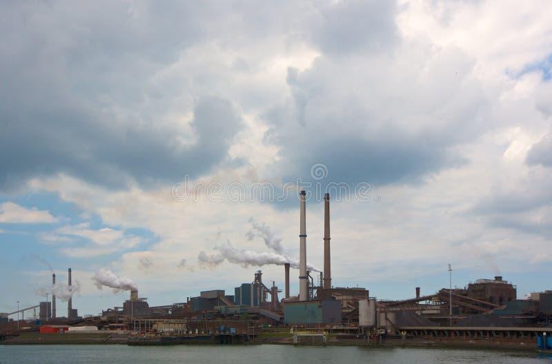 Download Hoogovens steel factory stock image. Image of velsen - 26129935