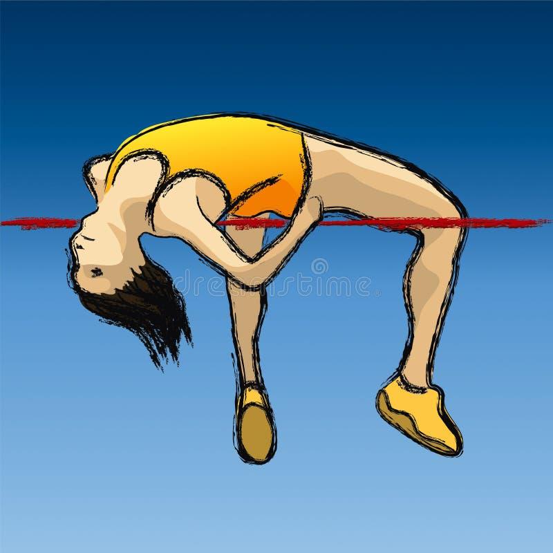 Download Hoogspringen vector illustratie. Afbeelding bestaande uit sporten - 4761619
