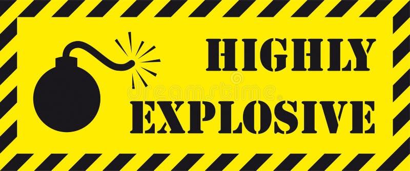 Hoogst explosief uithangbord royalty-vrije illustratie