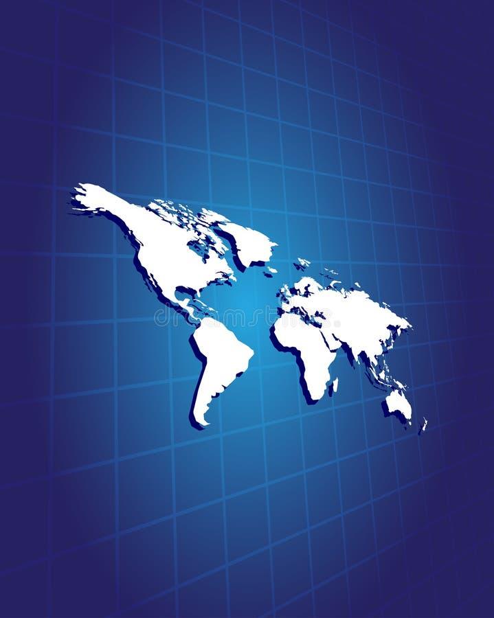 Hoogst gedetailleerde kaart van de wereld vector illustratie