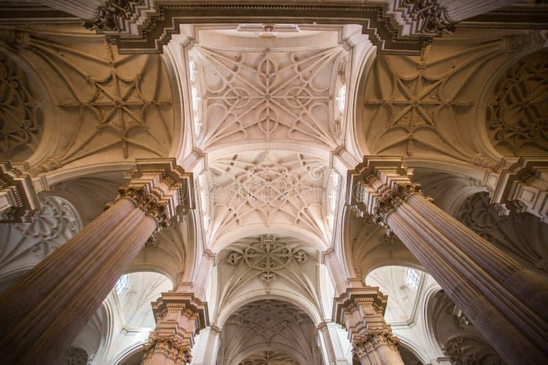 Hoogst verfraaid plafond van catedral DE Granada stock foto