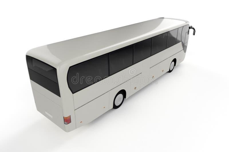 Hoogste Achterperspectiefmening over Witte Stadsbus - Achtergrond stock illustratie