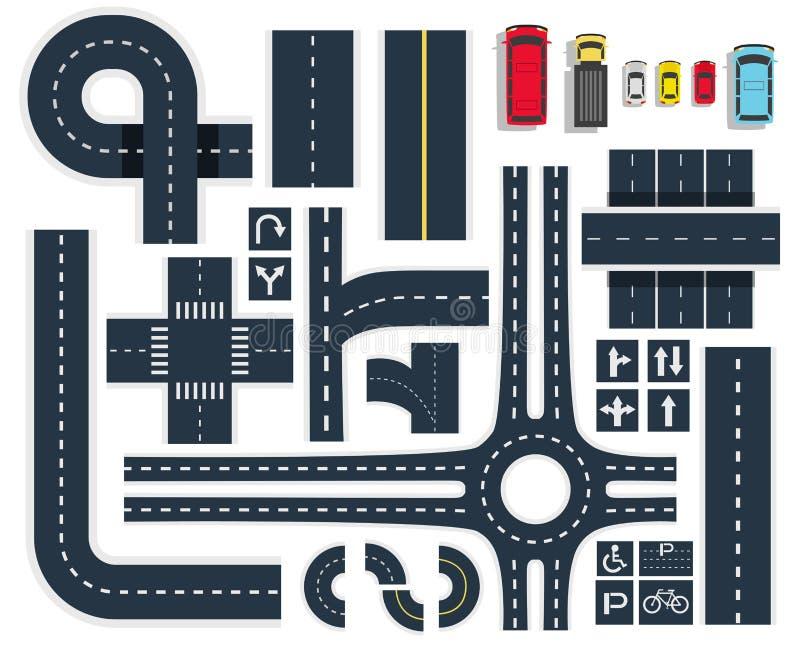 Hoogste de Meningsreeks van verkeerswegen royalty-vrije illustratie