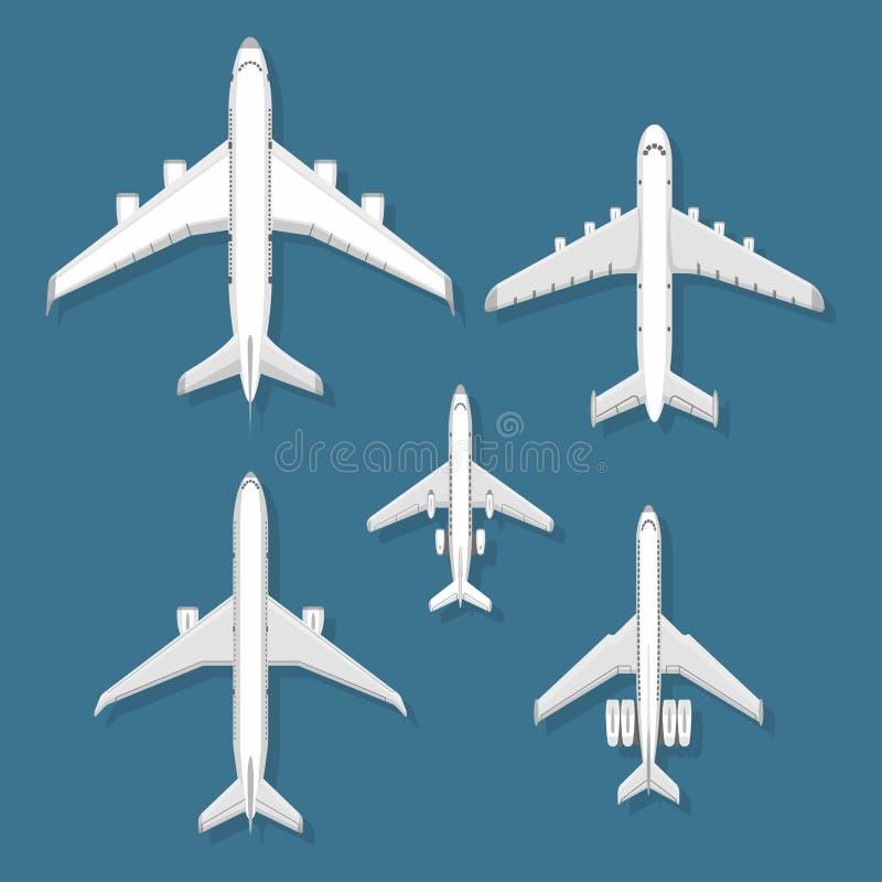 Hoogste de meningsvliegtuig van de vliegtuig hebben het vectorillustratie en van de de reismanier van het vliegtuigenvervoer de h vector illustratie