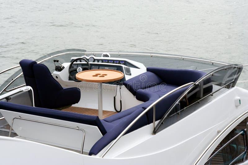 Hoogste dek in jacht stock foto's