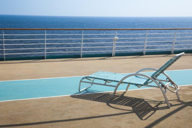 Hoogste dek van cruiseschip royalty-vrije stock fotografie