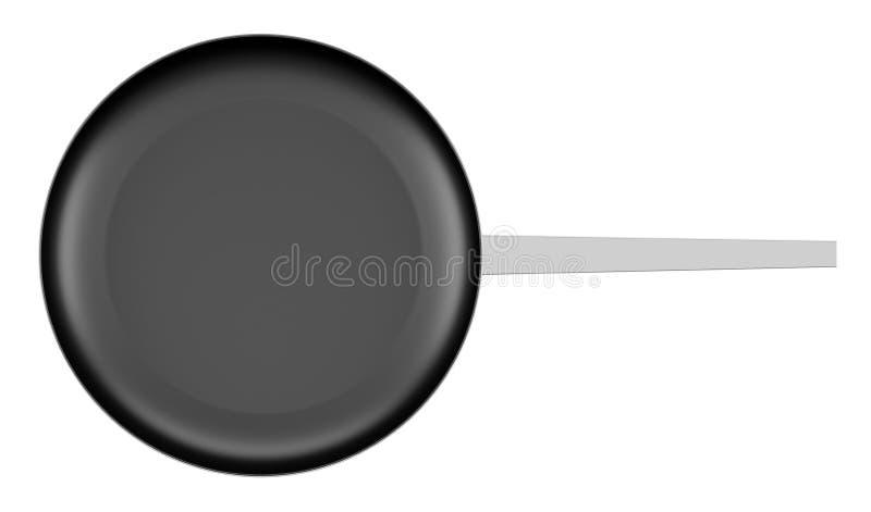 Hoogste die mening van het koken van pan op wit wordt geïsoleerd stock illustratie