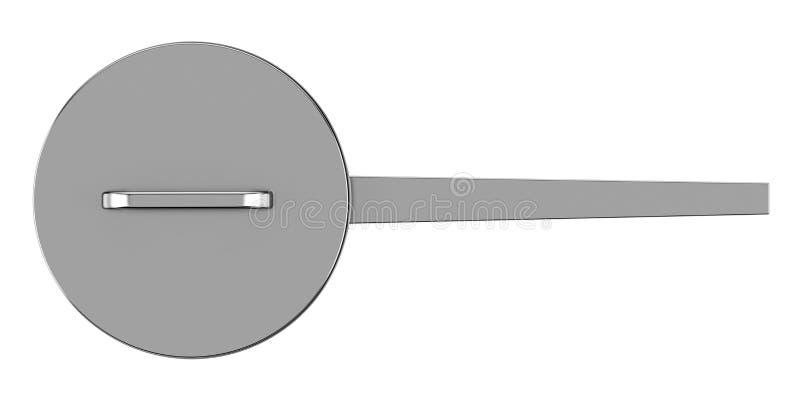 Hoogste die mening van het koken van pan op wit wordt geïsoleerd vector illustratie