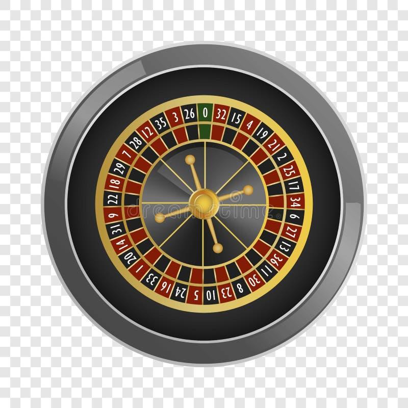 Hoogste het casinomodel van de meningsroulette, realistische stijl stock illustratie
