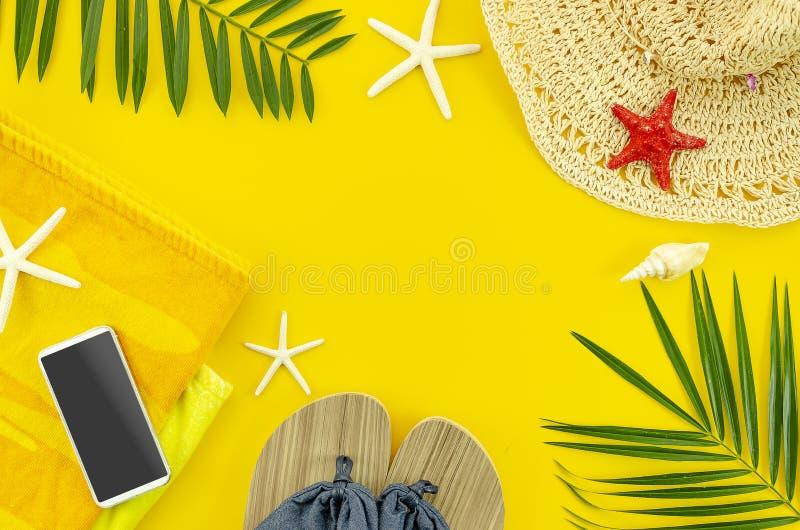 Hoogste het strandtoebehoren van de meningszomer E royalty-vrije stock afbeeldingen