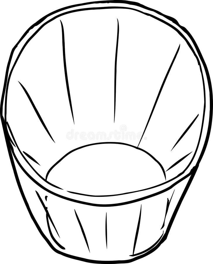 Hoogste Mening Geschetst Glas royalty-vrije illustratie