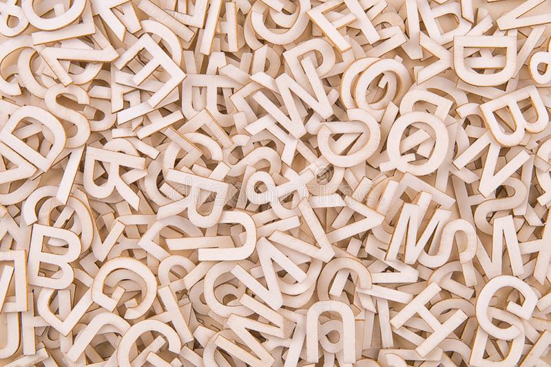 Hoogste mening over achtergrondtextuur van houten brieven stock afbeeldingen