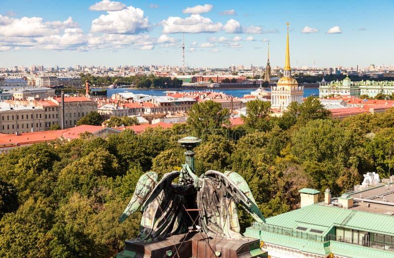 Hoogste mening over de Stad van het observatiedek stock fotografie