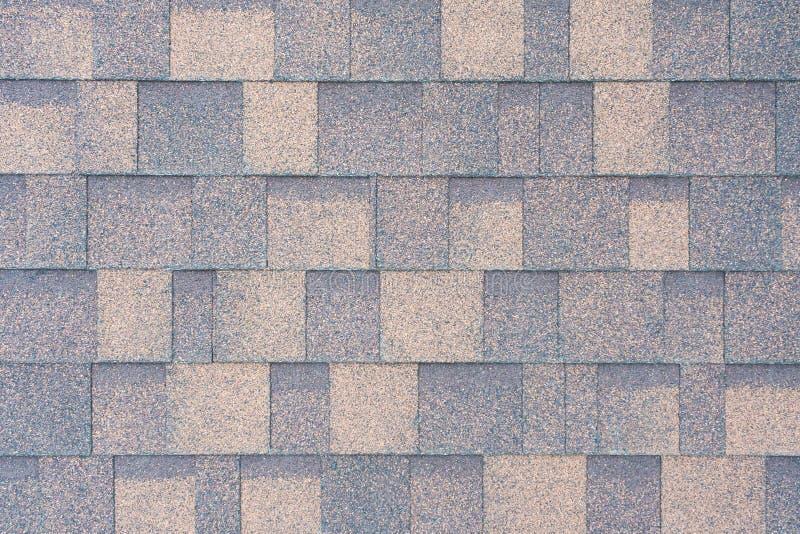 Hoogste mening over flexibele tegels op het dak als textuur stock afbeelding