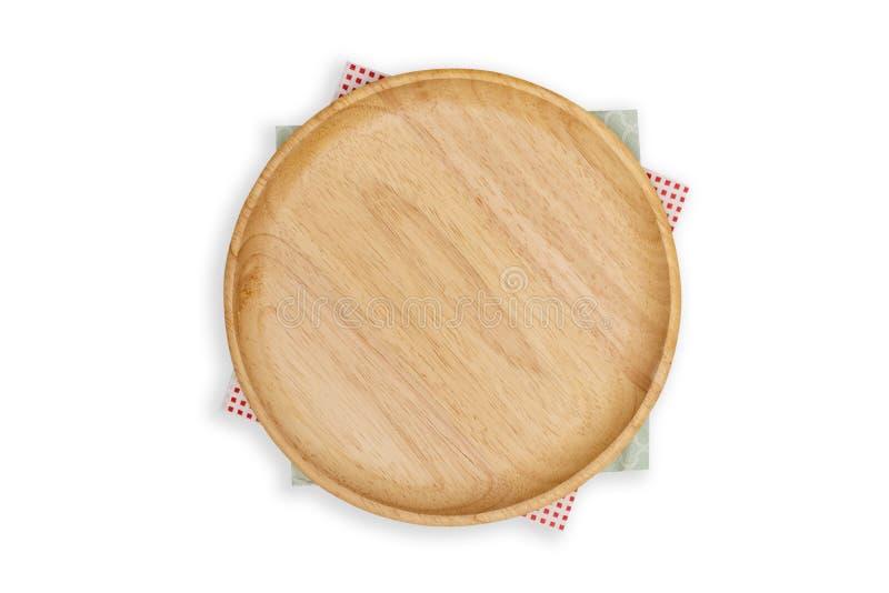 Hoogste mening-pizza raad met een servet op witte achtergrond stock foto's