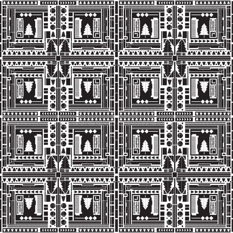 Hoogste mening van abstracte stad seampless patroon Rebecca 36 vector illustratie