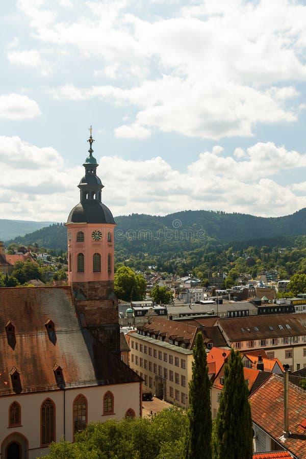 Hoogste mening van baden-Baden, Duitsland stock afbeeldingen