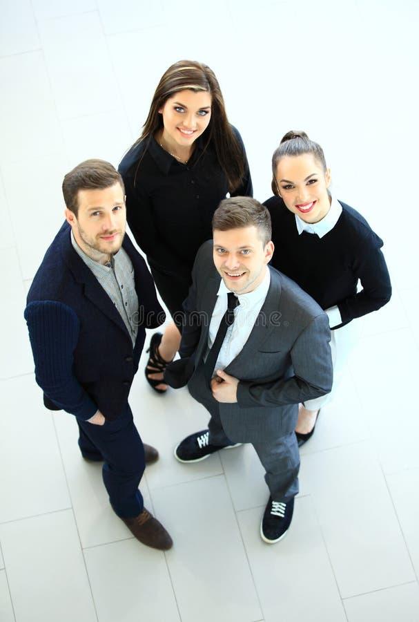 Hoogste mening van bedrijfsmensen Gelukkig glimlachend commercieel team royalty-vrije stock fotografie