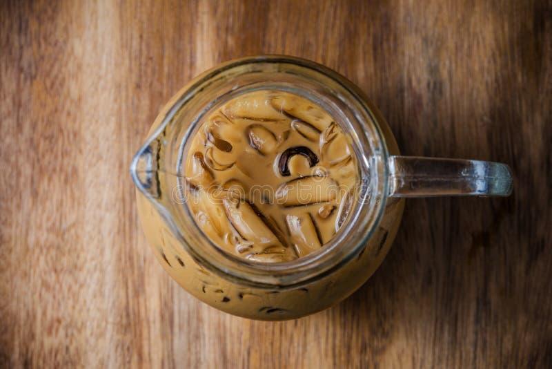 Hoogste mening van Bevroren koffie royalty-vrije stock foto's