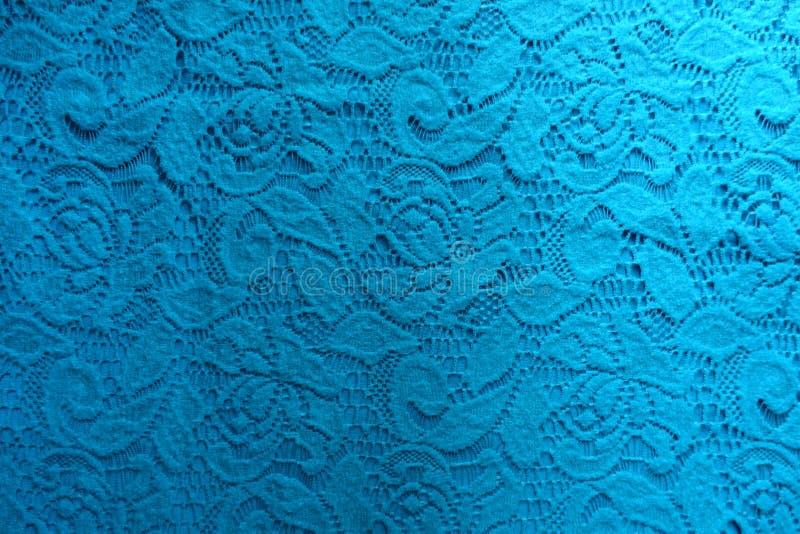 Hoogste mening van blauwgroen guipurekant stock afbeeldingen
