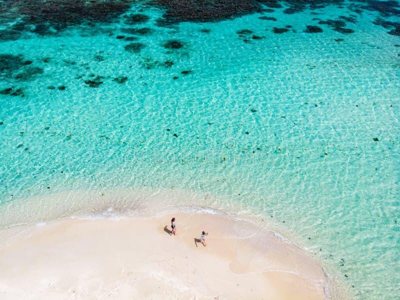 Hoogste mening van Caraïbisch eiland stock afbeeldingen