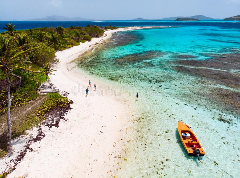 Hoogste mening van cays van Tobago stock foto's