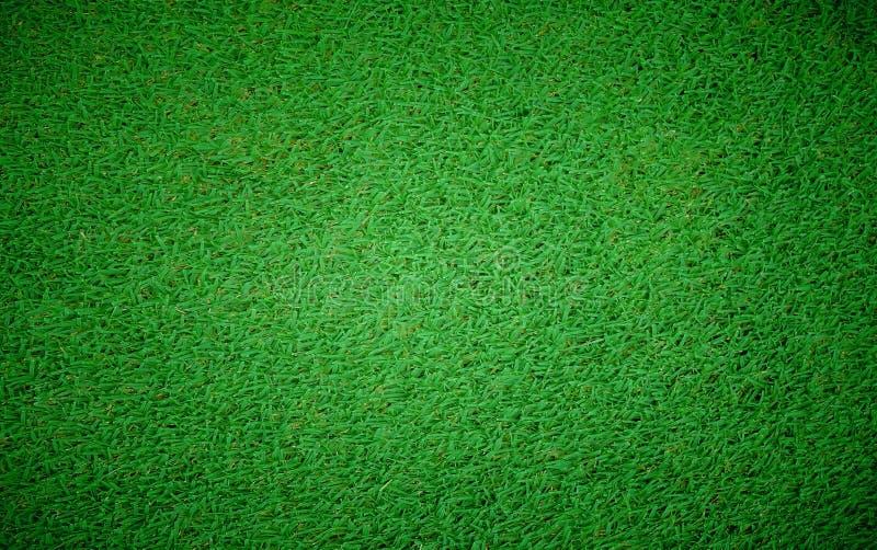 Hoogste mening van de achtergrond van het het grasgebied van de Voetbalvoetbal royalty-vrije stock foto