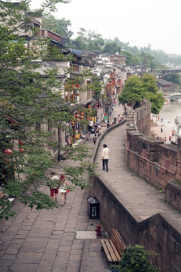 Hoogste mening van de oude stad van Fenghuang royalty-vrije stock fotografie