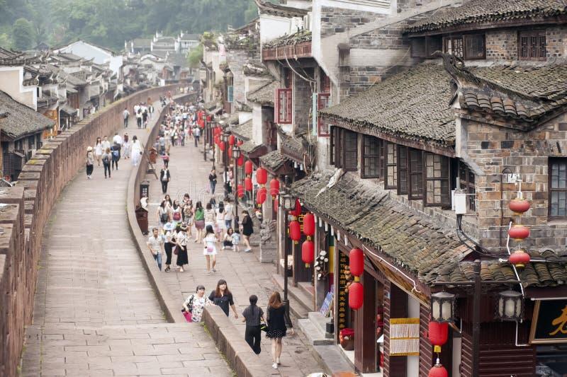 Hoogste mening van de oude stad van Fenghuang royalty-vrije stock afbeelding