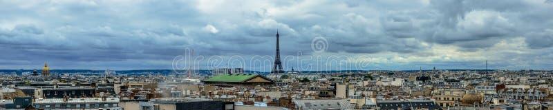 Hoogste mening van de scène van Parijs stock afbeeldingen
