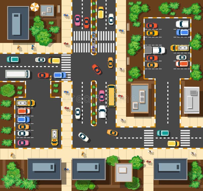 Hoogste mening van de stad stock illustratie