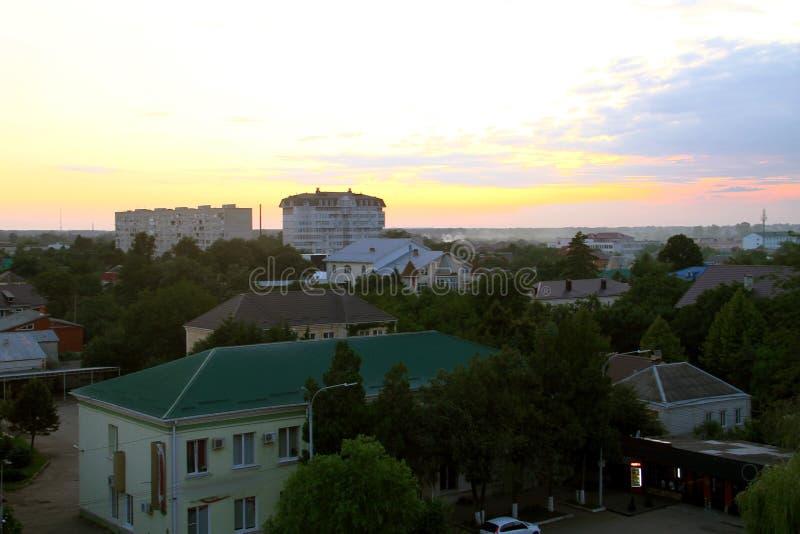 Hoogste mening van de stad van Belorechensk stock foto