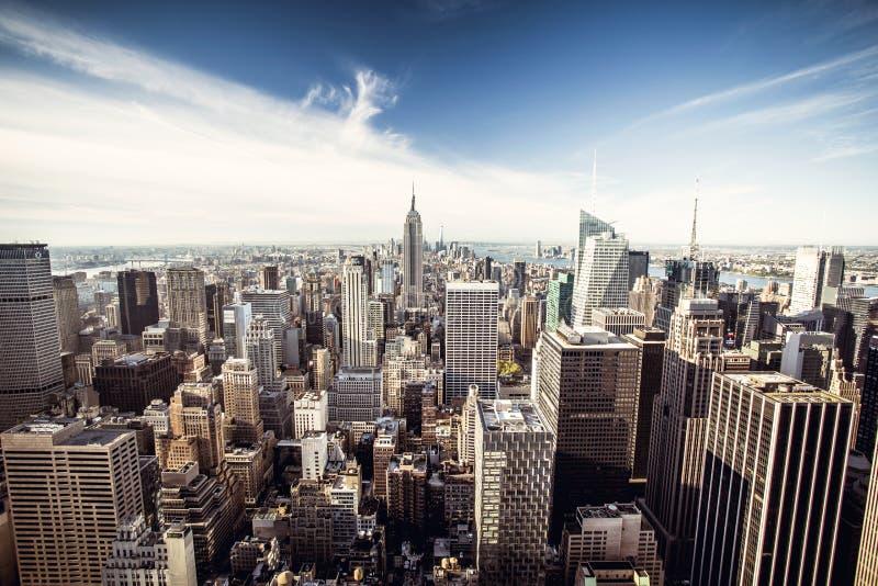 Hoogste mening van de Stad van New York stock afbeeldingen