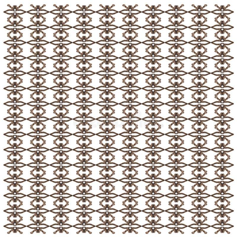 Hoogste mening van een hazelworm, Anguis fragilis, in herhaald patroon royalty-vrije illustratie