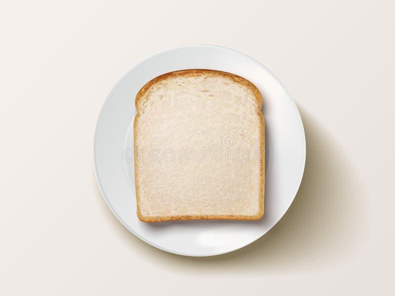 Hoogste mening van gesneden brood vector illustratie