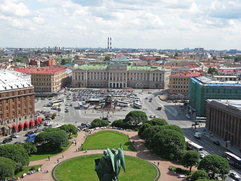 Hoogste mening van Heilige Petersburg Mening van hierboven Rusland stock afbeeldingen