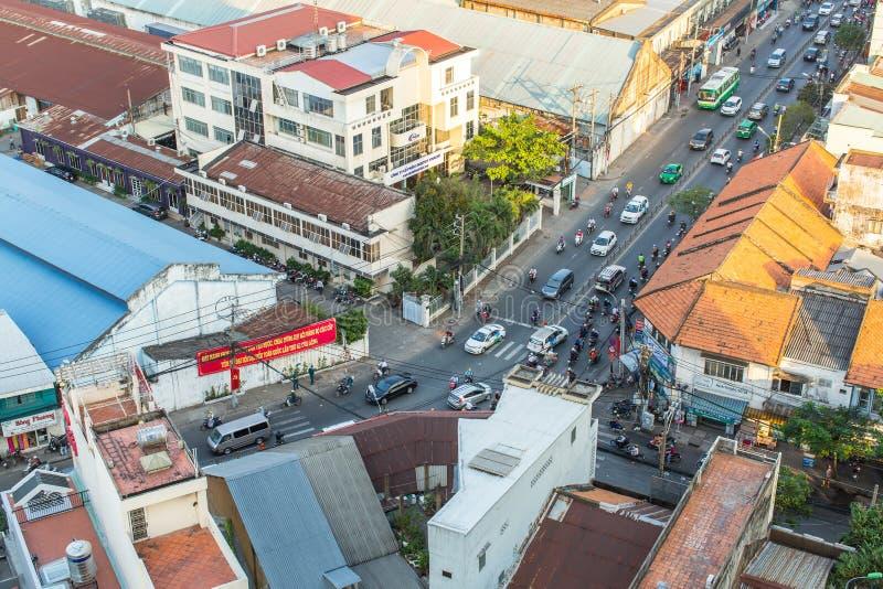 Hoogste mening van Ho Chi Minh City royalty-vrije stock afbeeldingen