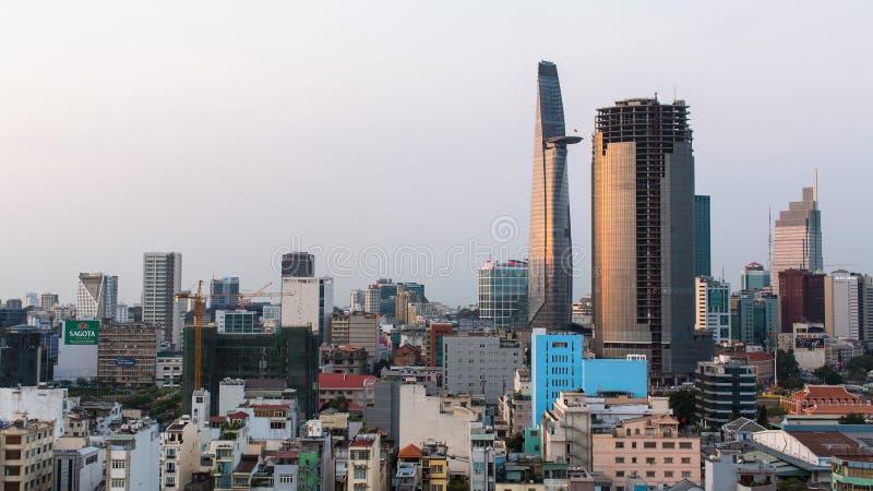 Hoogste mening van Ho Chi Minh City stock afbeeldingen