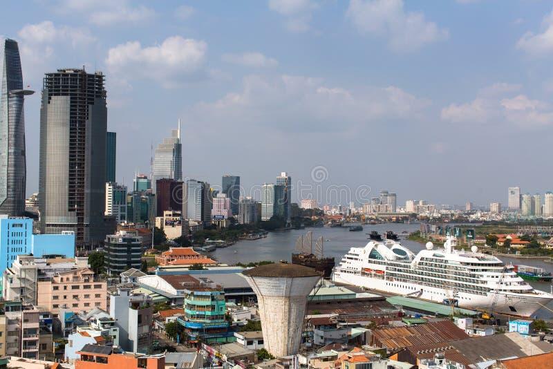 Hoogste mening van Ho Chi Minh City (Saigon) stock foto's