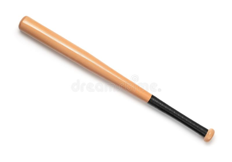 Hoogste mening van houten honkbalknuppel royalty-vrije stock foto