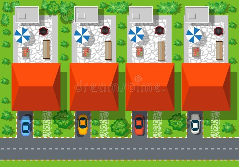 Hoogste mening van huizen vector illustratie
