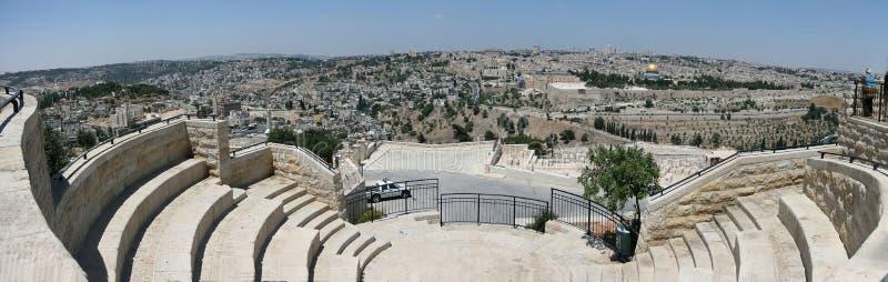 Hoogste mening van Jeruzalem stock fotografie