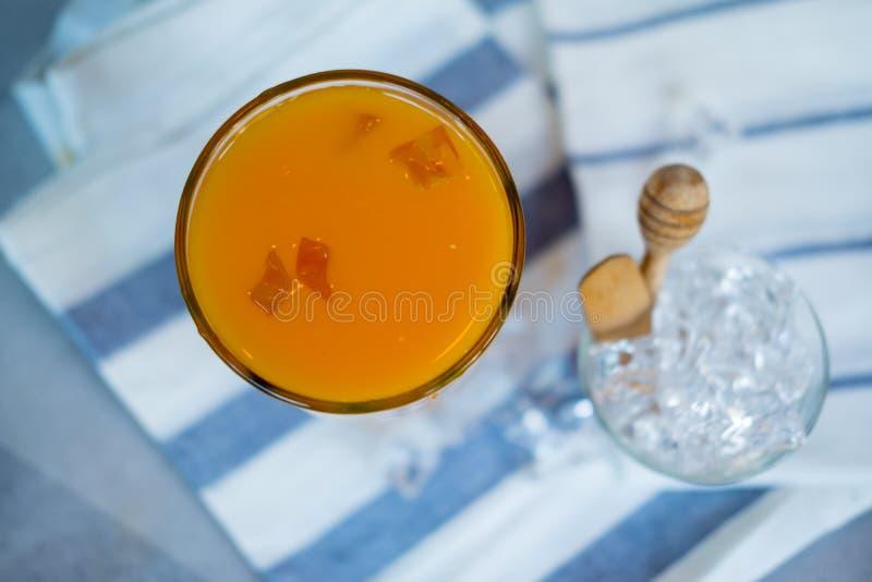 Hoogste mening van jus d'orange stock afbeelding