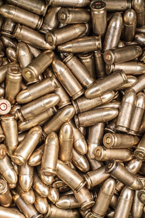 Hoogste mening van kanonmunitie Kogels voor pistool royalty-vrije stock afbeelding