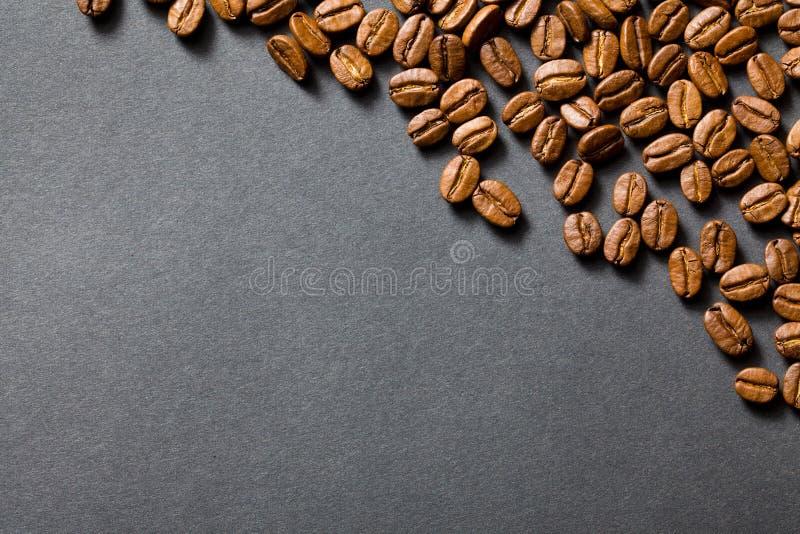 Hoogste mening van koffiebonen stock afbeeldingen