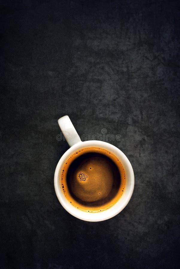 Hoogste mening van koffiekop royalty-vrije stock afbeeldingen