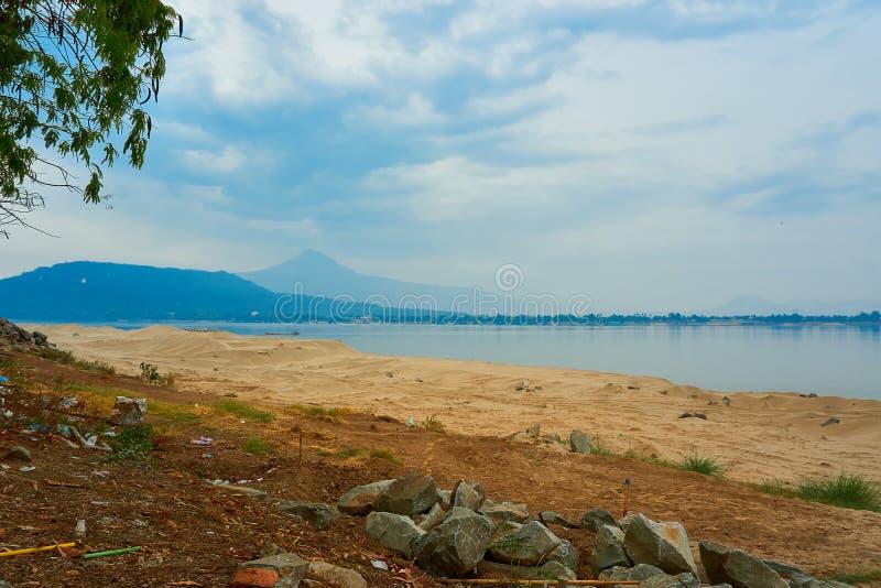 Hoogste mening van pakse, Mekong Rivier in Laos royalty-vrije stock afbeeldingen