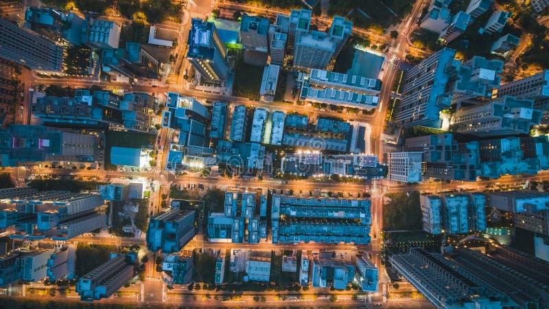 Hoogste Mening van Stadsstraat royalty-vrije stock afbeelding