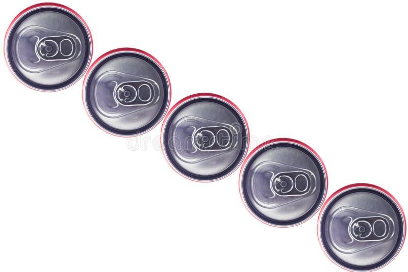 Hoogste mening van Tin Cans stock foto